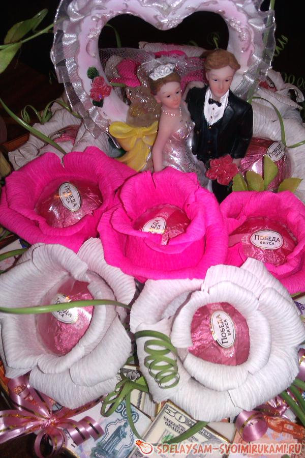 Сладкий подарок на свадьбу