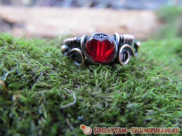 Как сделать кольцо из проволоки?
