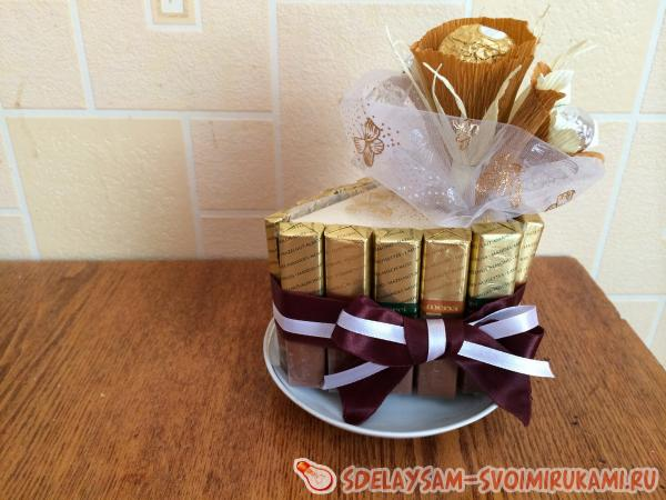 Букет из шоколада и конфет