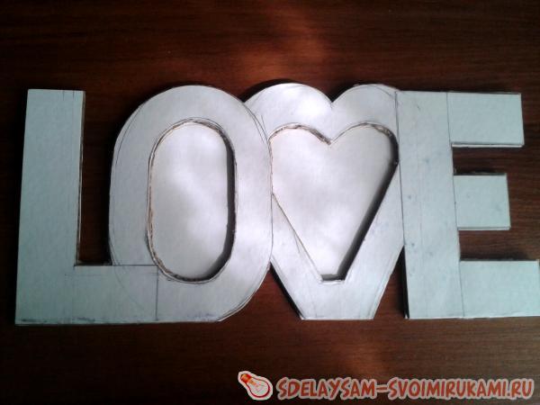 вырезаем LOVE