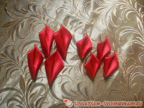 резинка для волос Красная гвоздика