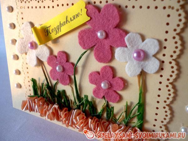 Цветы маме на день рождения своими руками