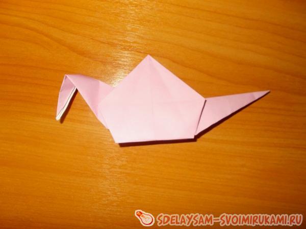 Забавная оригами улитка