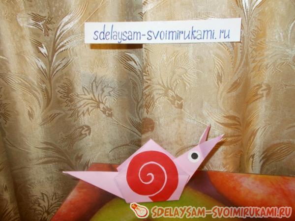Оригами улитка: легкий способ для детей