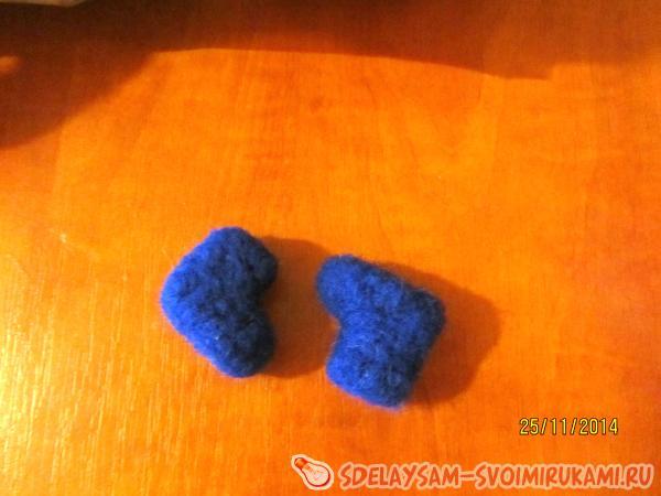 blue felt boots
