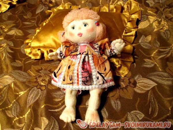 Тряпичная кукла с вставными глазками