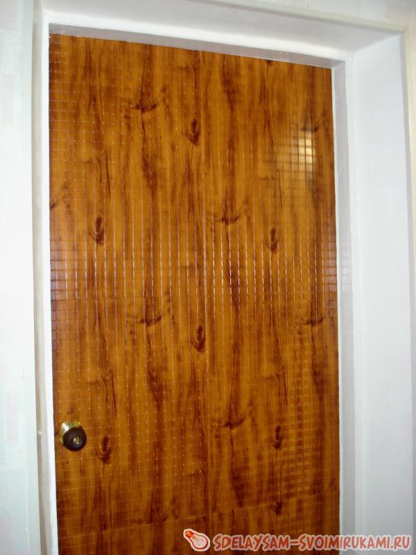 Ремонт двери с применением панелей ПВХ