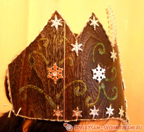 Корона для костюма Снежной Королевы. Как и из чего сделать