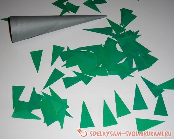 режем треугольнички