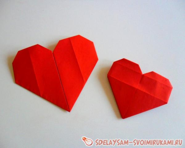 Valentine in the form of a paper heart
