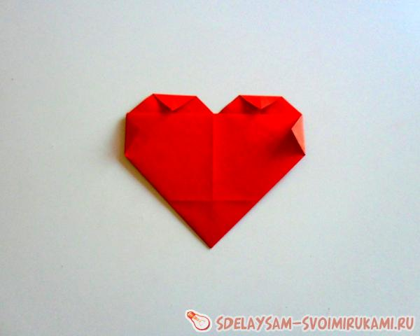 Valentine in the form of a heart from paper
