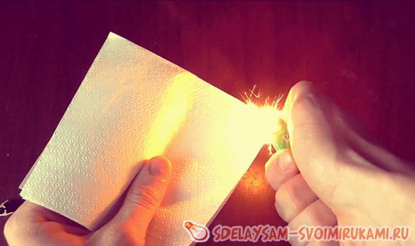 Получение огня из пустой зажигалки