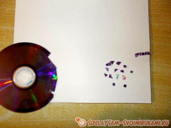 Мозаичная картина из дисков