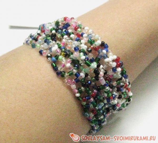 100 лучших вариантов: Как плети браслеты из бисера со схемами