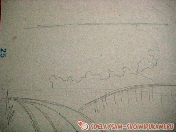 в процессе рисования картины