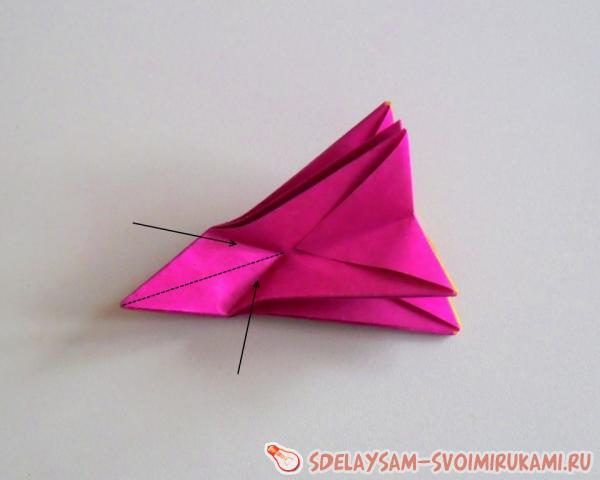 colored paper carnation