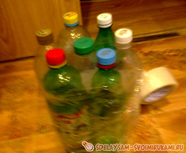 several plastic bottles