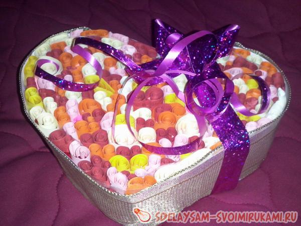 сладкая коробочка сердце