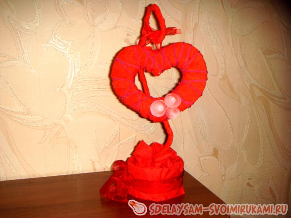 Heart on a stand