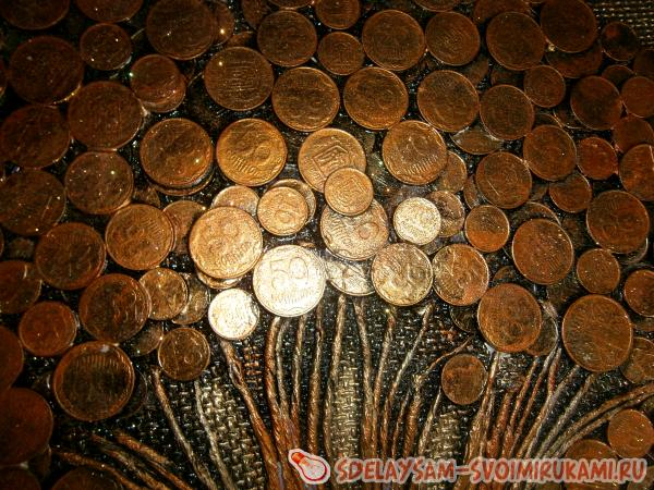 растушуйте лишь по монетам