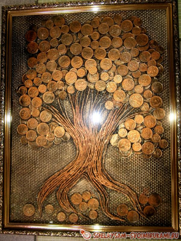 Picture of coins Money tree