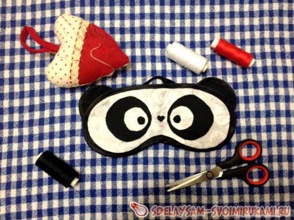 Маска для сна - Панда