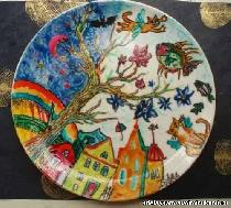 Расписываем фарфоровую тарелку