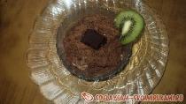 Фруктовый салат с йогуртом и шоколадом