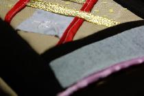 Обложка для книги, выполненная в технике пэчворк