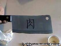 Электро-химическая гравировка на нож