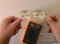 Аккумулятор из полистирола, соды и уксуса на 12 вольт
