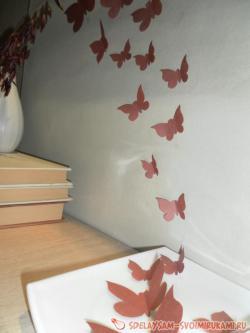 Интерьерный декор бабочками