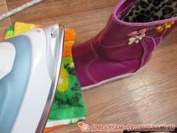 Способ увеличить размер кожаной обуви