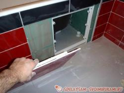 Лицевая панель для ванны