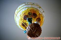 Воздушный шар из бумажного фонарика