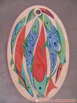 Кухонная доска с абстрактным рисунком