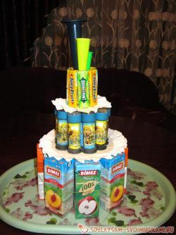 Торта из сладостей