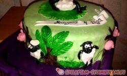 Оформление детского торта