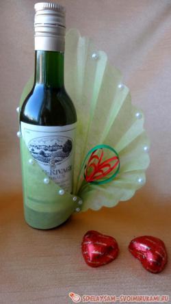 Упаковка для бутылочки вина
