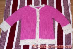 Cardigan, knitted on the needles