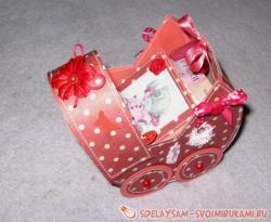 Колясочка с сюрпризом для новорожденной девочки