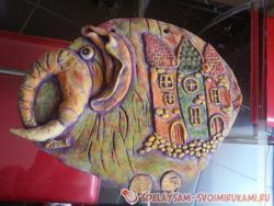 Креативный слон на стену