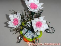 Мастер-класс «Белые цветы»