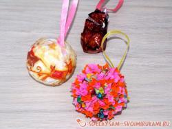Елочные шары из папье-маше