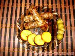 Свиные колбаски, рубленные вручную