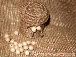 Декоративная шкатулка из джут