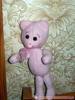 Как сделать розового медвежонка?