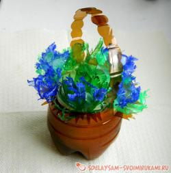 Basket with a bouquet