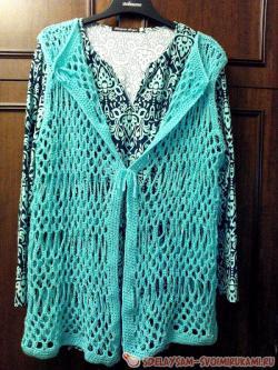 Vest - crocheted mesh