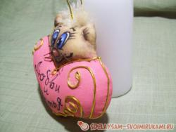 Мастер-класс сердечки-котики из ткани